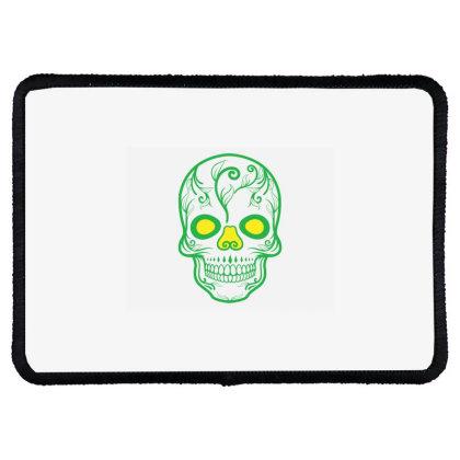 Skull T Shirt, Skull Design Rectangle Patch Designed By T-shirt Art World