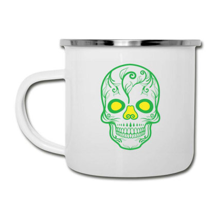 Skull T Shirt, Skull Design Camper Cup Designed By T-shirt Art World