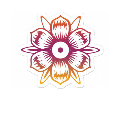 Flower T-shirt, Art Tshirt, Positive Vibe Tshirt Sticker Designed By T-shirt Art World