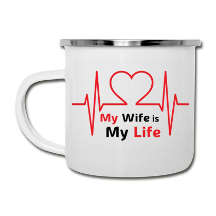 Wife T Shirt, My Wife Is My Life,  Wife Love Camper Cup Designed By T-shirt Art World