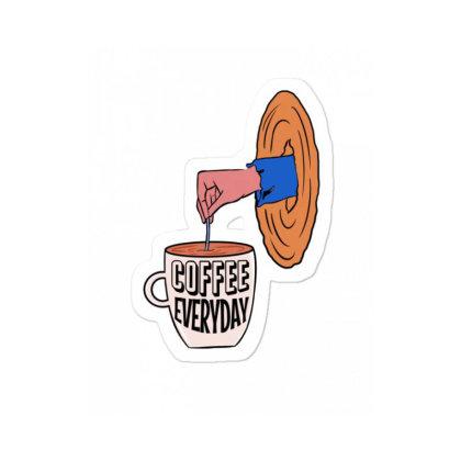 Coffee Everyday Sticker Designed By Cypryanus