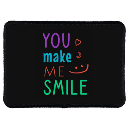 You Make Me Smile Rectangle Patch Designed By Cypryanus
