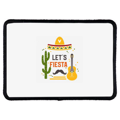Let's Fiesta Rectangle Patch Designed By Qudkin