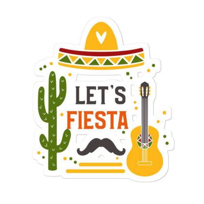 Let's Fiesta Sticker Designed By Qudkin