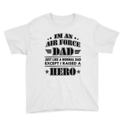 Airforce Dad Youth Tee Designed By Ron Pictures