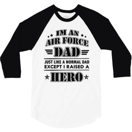 Airforce Dad 3/4 Sleeve Shirt Designed By Ron Pictures
