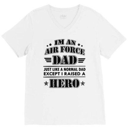 Airforce Dad V-neck Tee Designed By Ron Pictures
