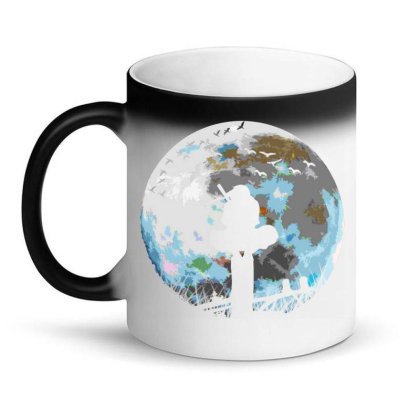 Fighter On The Moon Magic Mug Designed By Ron Pictures