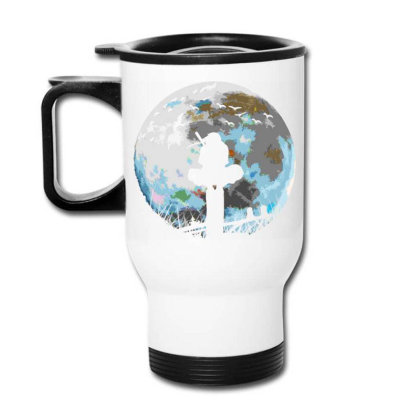 Fighter On The Moon Travel Mug Designed By Ron Pictures