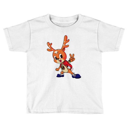 Cheerful Deer Toddler T-shirt Designed By Barbara Store