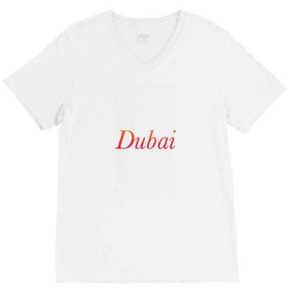 Dubai V-neck Tee Designed By Mounir9997