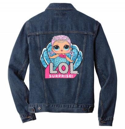 Lol Surprise Mermaid Men Denim Jacket Designed By Badaudesign