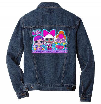 Lol Surprise Come Sparkle With Us Men Denim Jacket Designed By Badaudesign