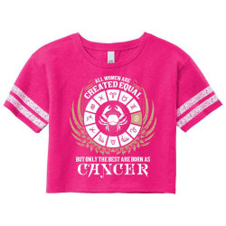Cancer Women Scorecard Crop Tee Designed By Tshiart