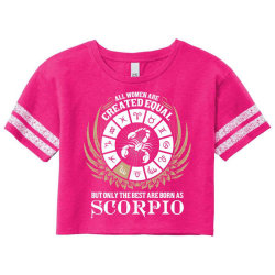 Scorpio Women Scorecard Crop Tee Designed By Tshiart
