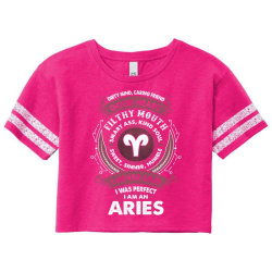 I Never Said I Was Perfect I Am An Aries Scorecard Crop Tee Designed By Tshiart