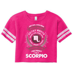 I Never Said I Was Perfect I Am A Scorpio Scorecard Crop Tee Designed By Tshiart