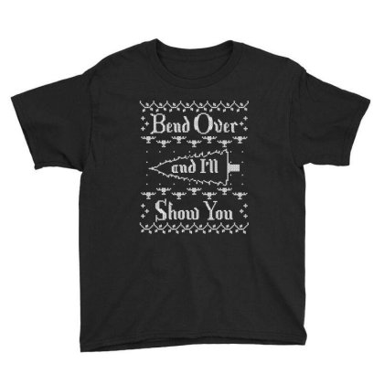 Bend Over And I'll Show You Youth Tee Designed By Bull Tees