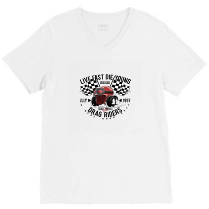 Race V-neck Tee Designed By Disgus_thing