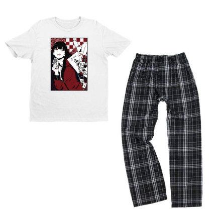 Kakegurui Yumeko Youth T-shirt Pajama Set Designed By Paísdelasmáquinas