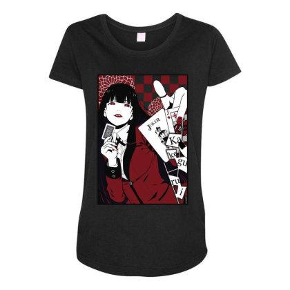 Kakegurui Yumeko Maternity Scoop Neck T-shirt Designed By Paísdelasmáquinas