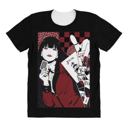 Kakegurui Yumeko All Over Women's T-shirt Designed By Paísdelasmáquinas