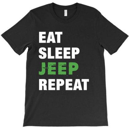 Eat, Sleep, Jeep, Repeat Funny Cute Gift T-shirt Designed By Koalastudio