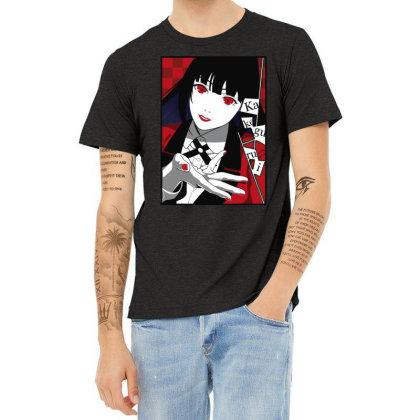 Yumeko Kakegurui Heather T-shirt Designed By Paísdelasmáquinas