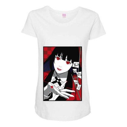 Yumeko Kakegurui Maternity Scoop Neck T-shirt Designed By Paísdelasmáquinas