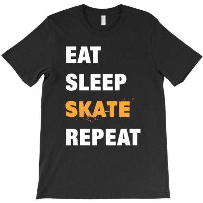 Eat, Sleep, Skate, Repeat Funny Cute Gift T-shirt Designed By Koalastudio