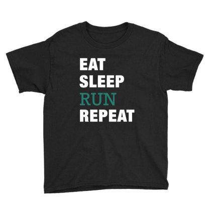 Eat, Sleep, Run, Repeat Funny Cute Gift Youth Tee Designed By Koalastudio