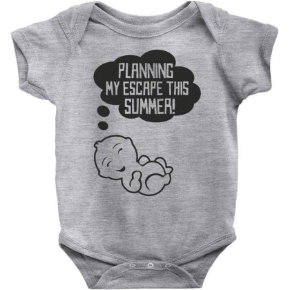 Baby Planning My Escape This Summer Funny Baby Bodysuit