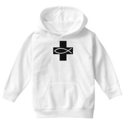 cross and fish christian symbol funny Youth Hoodie | Artistshot