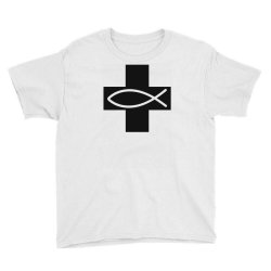 cross and fish christian symbol funny Youth Tee | Artistshot