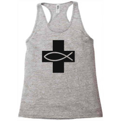cross and fish christian symbol funny Racerback Tank | Artistshot