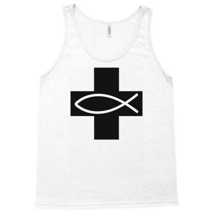 Cross And Fish Christian Symbol Funny Tank Top Designed By Erishirt