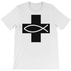 cross and fish christian symbol funny T-Shirt | Artistshot