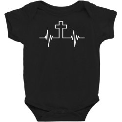 cross pulse funny Baby Bodysuit | Artistshot