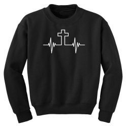 cross pulse funny Youth Sweatshirt | Artistshot