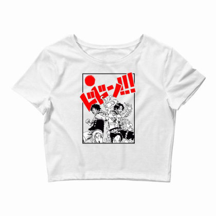 Luffy And Ace Crop Top Designed By Paísdelasmáquinas
