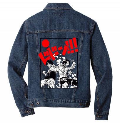 Luffy And Ace Men Denim Jacket Designed By Paísdelasmáquinas
