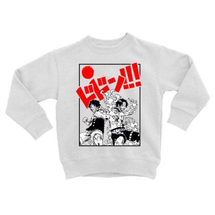 Luffy And Ace Toddler Sweatshirt Designed By Paísdelasmáquinas