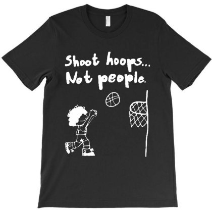 Funny Cartoon Shoot Hoops Not People T-shirt Designed By Azura Store