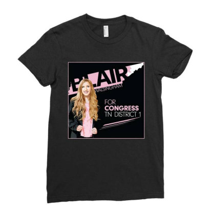 Awesome Blairfor Congress Ladies Fitted T-shirt Designed By Azura Store