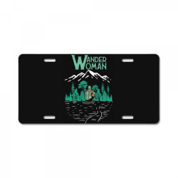 wander woman License Plate | Artistshot