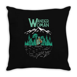 wander woman Throw Pillow | Artistshot