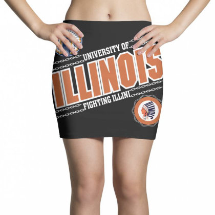 University Of Illinois Fighting Illini Mini Skirts Designed By Badaudesign