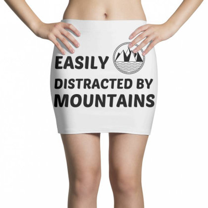 Easily Distracted By Mountains Mini Skirts Designed By Perfect Designers