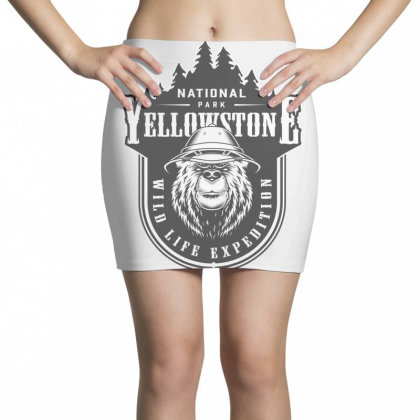 National Park Yellowstone, Wild Life Expedition Mini Skirts Designed By Estore