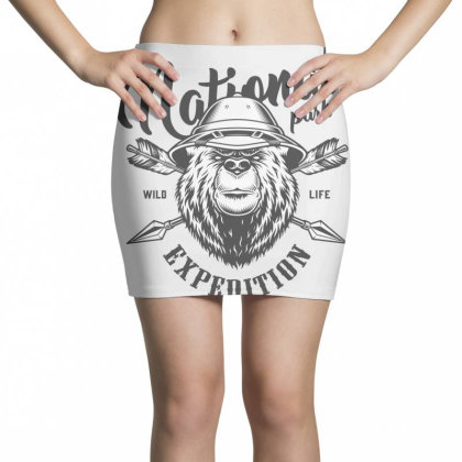 National Park, Wild Life Expedition Mini Skirts Designed By Estore